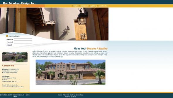 Ron Montoya Designs homepage screenshot